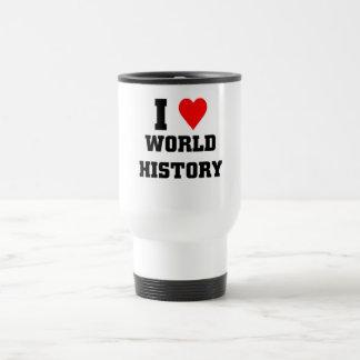 Amo historia de mundo taza térmica