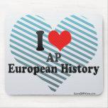 Amo historia del europeo del AP Alfombrilla De Ratones