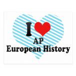 Amo historia del europeo del AP Tarjetas Postales