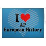 Amo historia del europeo del AP Tarjetón