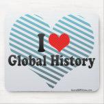 Amo historia global alfombrilla de ratón