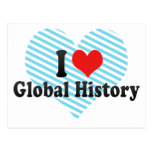 Amo historia global tarjeta postal