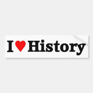 Amo historia pegatina para auto