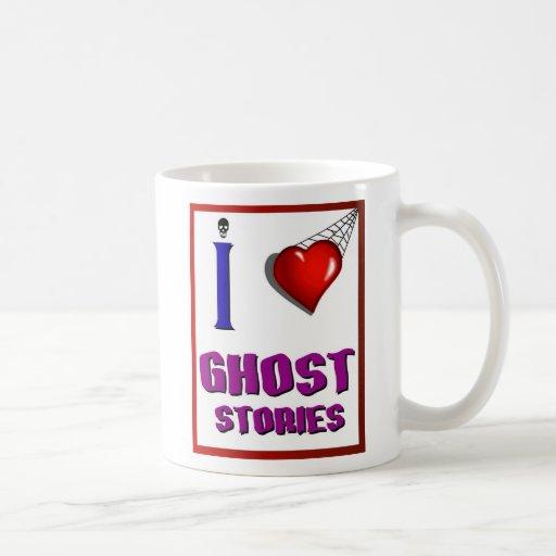 Amo historias de fantasmas tazas