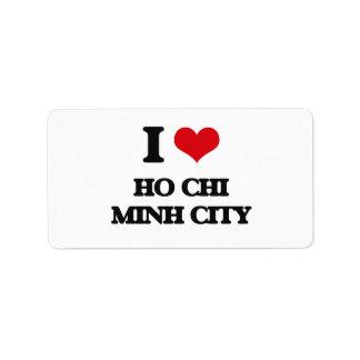 Amo Ho Chi Minh City Etiqueta De Dirección