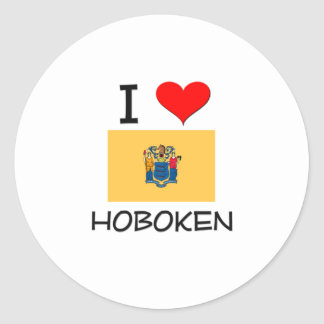 Amo Hoboken New Jersey Pegatina Redonda
