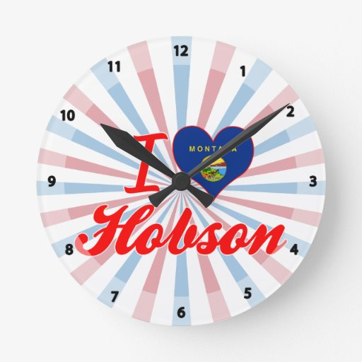 Amo Hobson, Montana Reloj Redondo Mediano