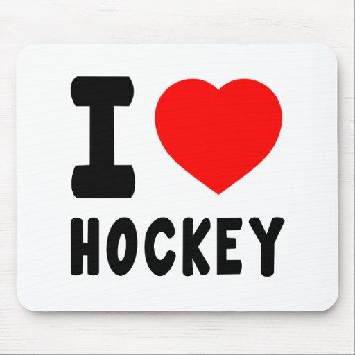 Amo hockey alfombrillas de ratones