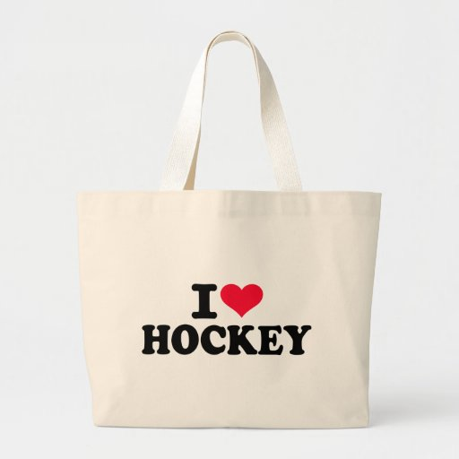 Amo hockey bolsa tela grande