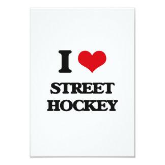 """Amo hockey de la calle invitación 3.5"""" x 5"""""""
