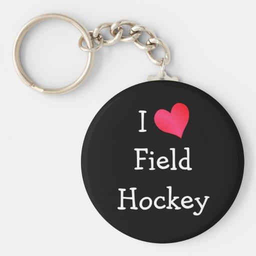 Amo hockey hierba llavero redondo tipo pin