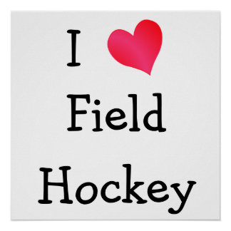 Amo hockey hierba póster