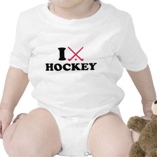 Amo hockey hierba traje de bebé