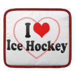 Amo hockey sobre hielo fundas para iPads