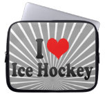 Amo hockey sobre hielo mangas computadora