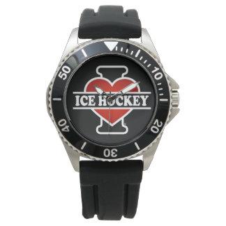 Amo hockey sobre hielo relojes de pulsera