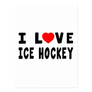 Amo hockey sobre hielo postal