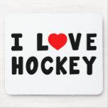 Amo hockey tapete de ratones