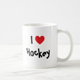 Amo hockey tazas de café