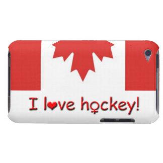 ¡Amo hockey! /Women/hockey de los chicas Case-Mate iPod Touch Cobertura