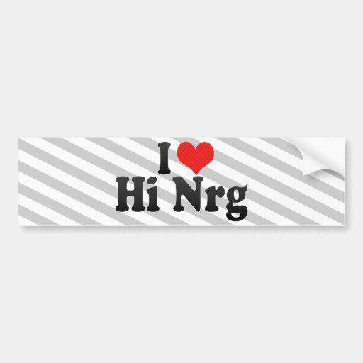 Amo hola Nrg Pegatina Para Auto