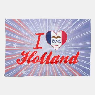 Amo Holanda, Iowa Toallas De Mano