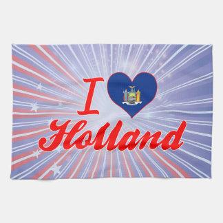 Amo Holanda, Nueva York Toalla De Cocina