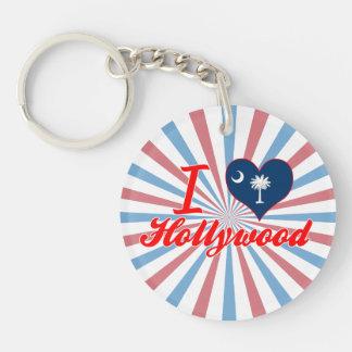 Amo Hollywood, Carolina del Sur Llavero Redondo Acrílico A Una Cara