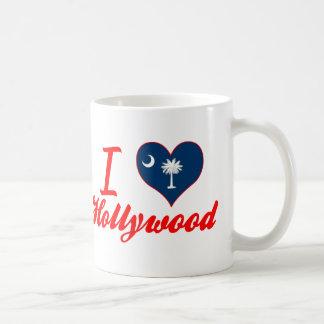 Amo Hollywood, Carolina del Sur Taza Básica Blanca