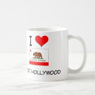 Amo HOLLYWOOD DEL OESTE California Taza Básica Blanca