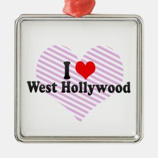 Amo Hollywood del oeste, Estados Unidos Adorno Navideño Cuadrado De Metal