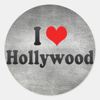 Amo Hollywood, Estados Unidos Pegatina Redonda
