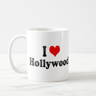 Amo Hollywood, Estados Unidos Taza Básica Blanca