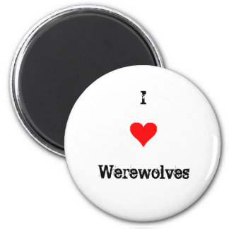 Amo hombres lobos imán para frigorífico