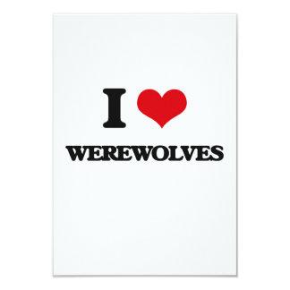 """Amo hombres lobos invitación 3.5"""" x 5"""""""