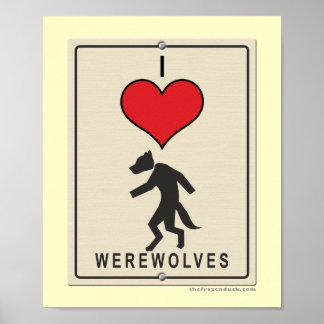 Amo hombres lobos póster