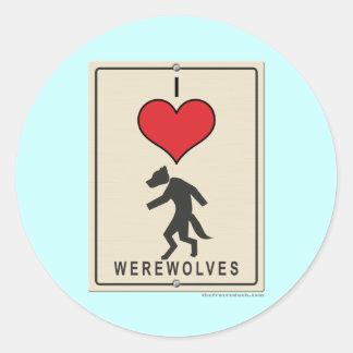 Amo hombres lobos etiqueta