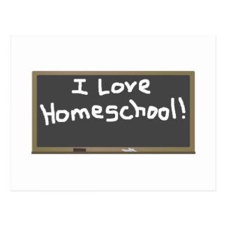 ¡Amo Homeschool! Tarjeta Postal