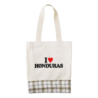 AMO HONDURAS BOLSA TOTE ZAZZLE HEART