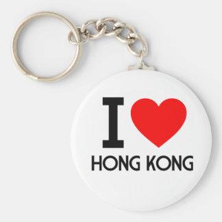 Amo Hong Kong Llavero Redondo Tipo Pin