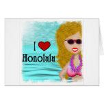 Amo Honolulu Felicitación