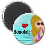 Amo Honolulu Imanes Para Frigoríficos