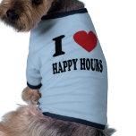 Amo horas felices camiseta de perro