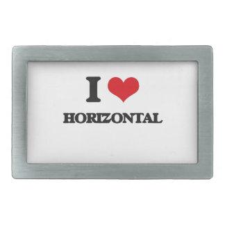 Amo horizontal hebillas cinturón rectangulares