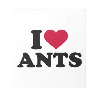 Amo hormigas bloc de notas