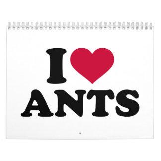 Amo hormigas calendarios de pared