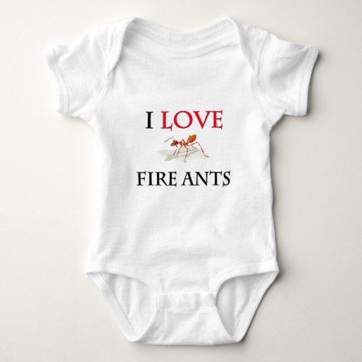 Amo hormigas de fuego t-shirt
