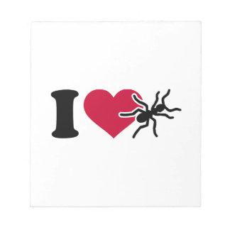 Amo hormigas libretas para notas