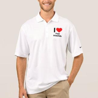 amo hospitales de campaña polo camisetas