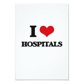 """Amo hospitales invitación 3.5"""" x 5"""""""